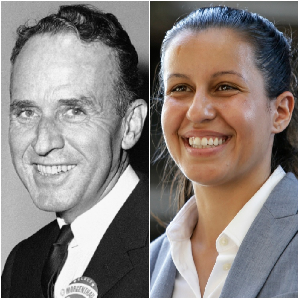 Frank O'Connor defeated incumbent T. Vincent Quinn by fewer than 2,000 votes in the 1955 primary election for queens da. Tiffany Cabán leads Melinda Katz by fewer than 2,000 votes with the final count set to begin Wednesday. AP Photo of O'Connor; AP Photo/Frank Franklin II