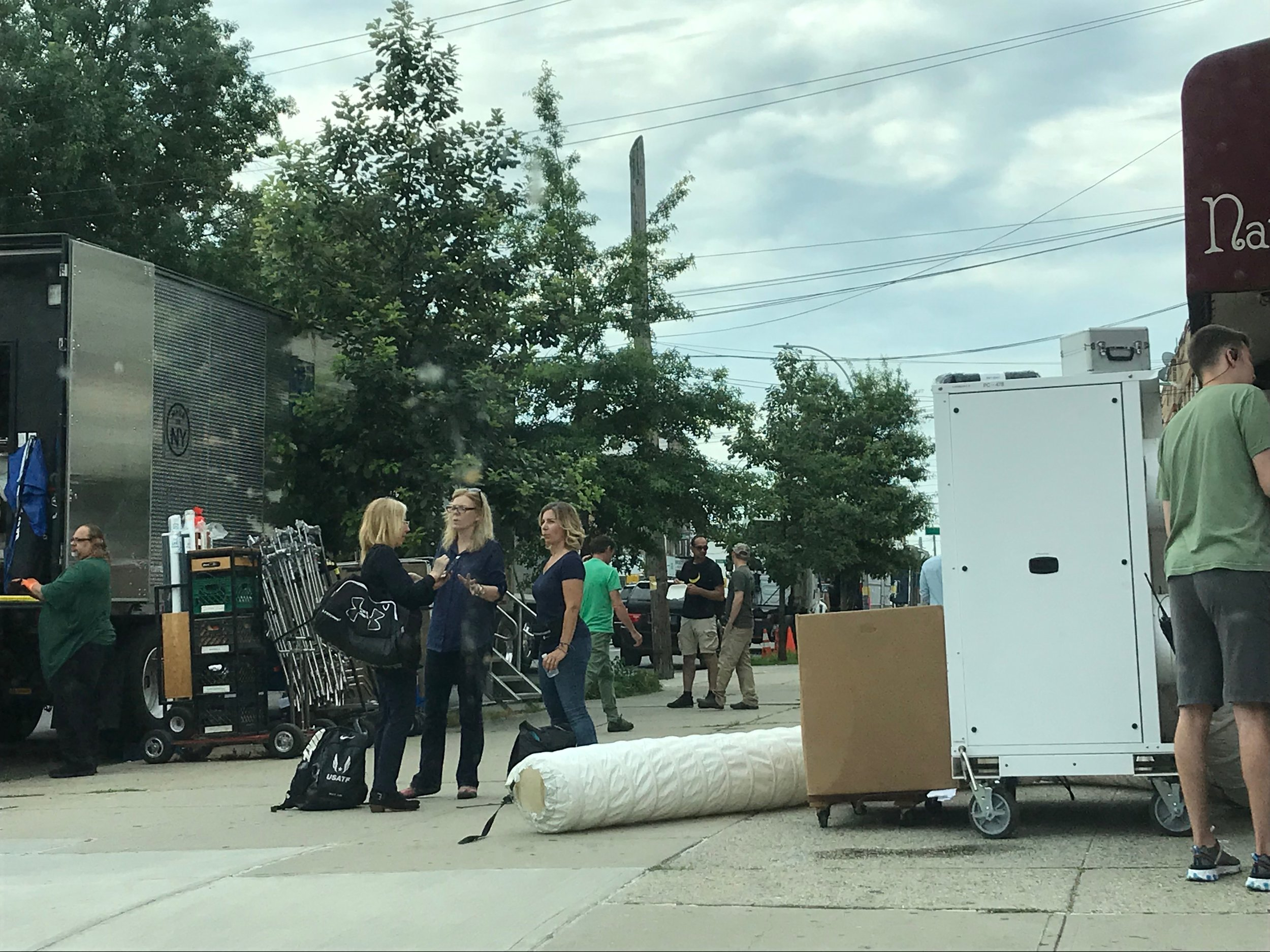 Cast and crew were on location in Ridgewood.  Eagle  photo by David Brand.