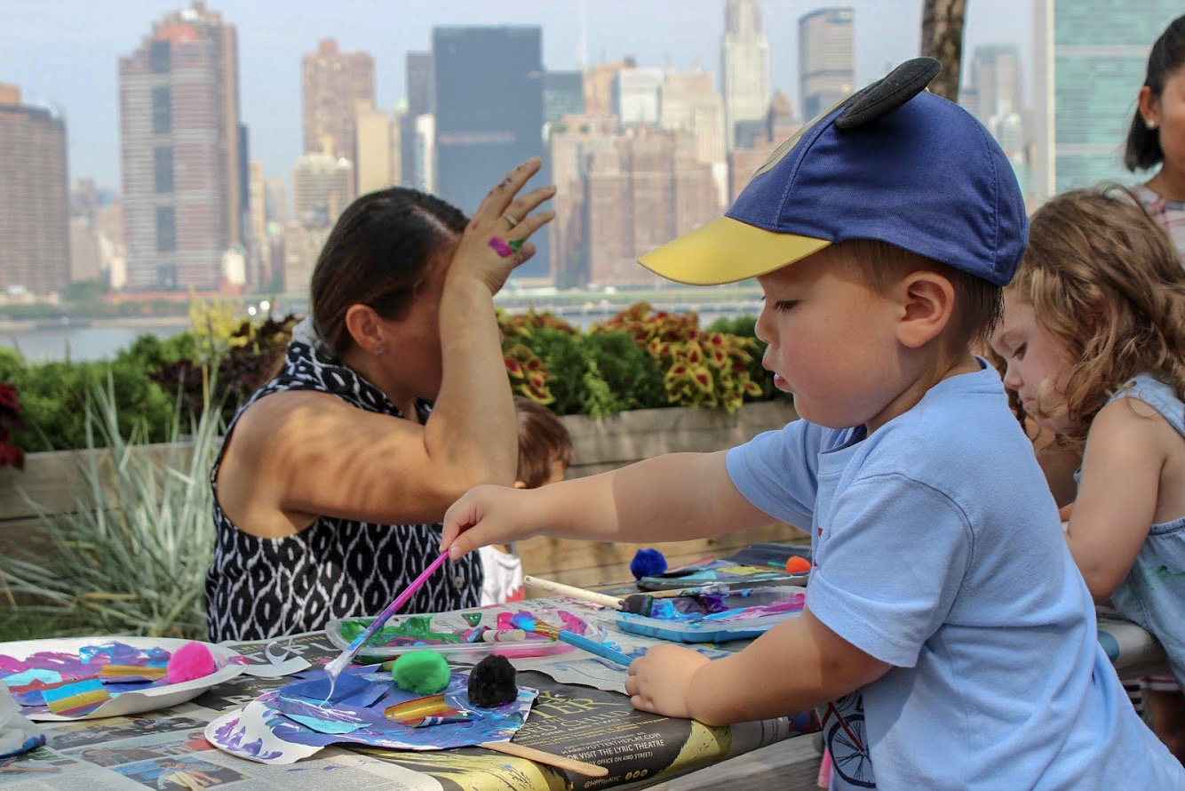 A participant in last year's Summer Kids at the Landing. Photo courtesy of Summer Kids at the Landing