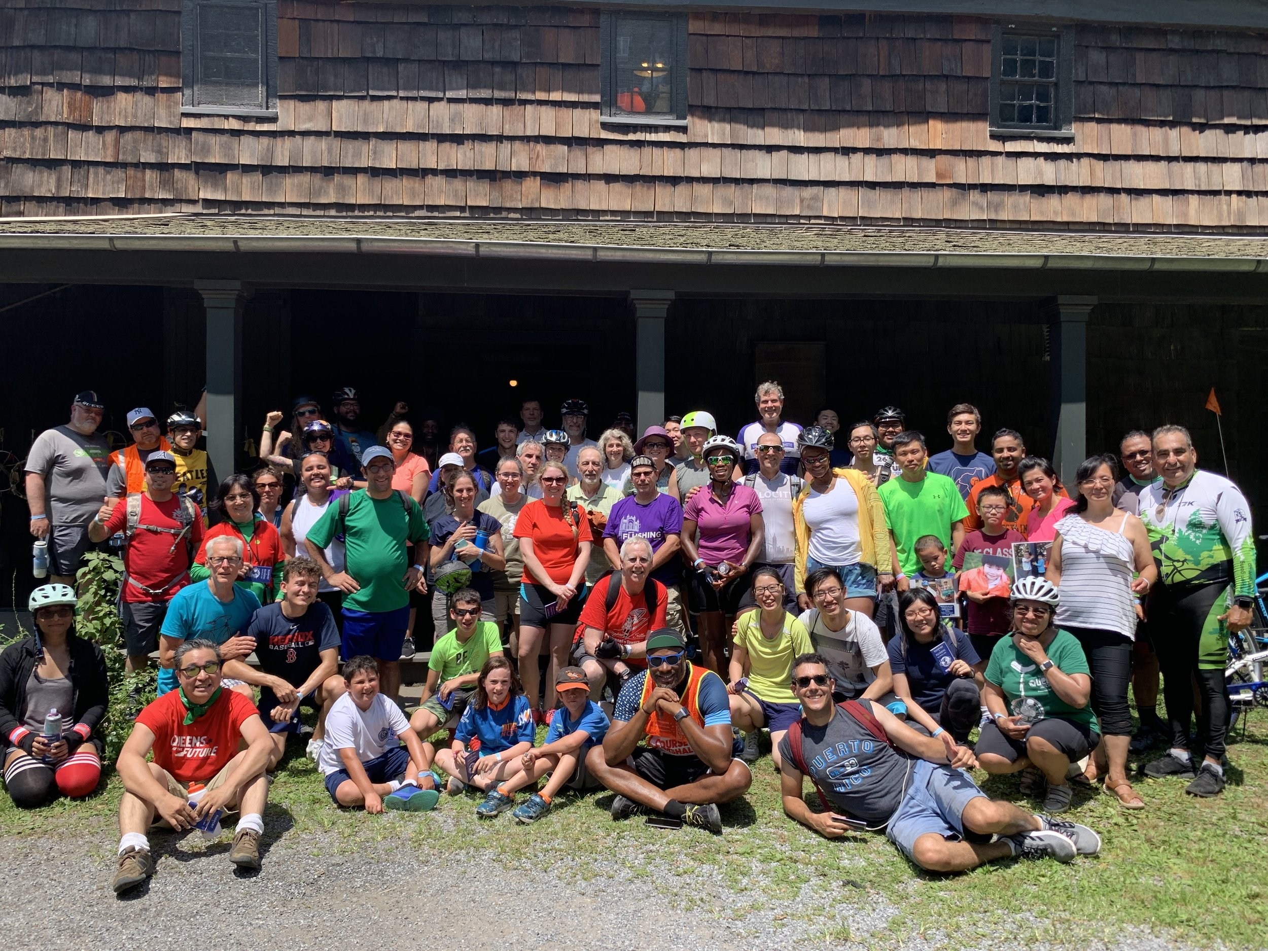 More than 200 cyclists participated in the annual Tour de Flushing.  Photo courtesy of Flushing Chamber of Commerce