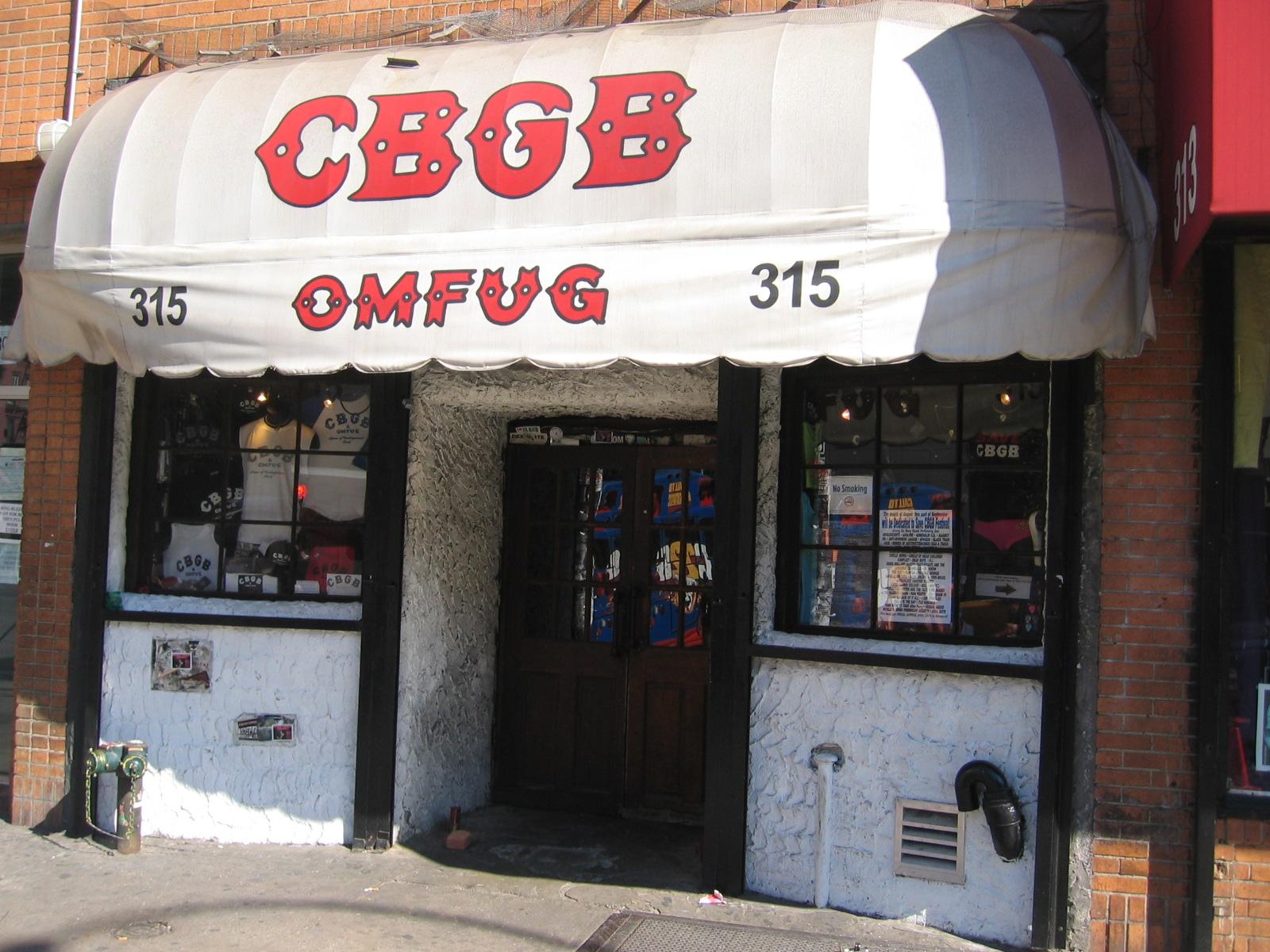 The legendary rock club CBGB. Photo by  adam dicarlo via wikimedia commons