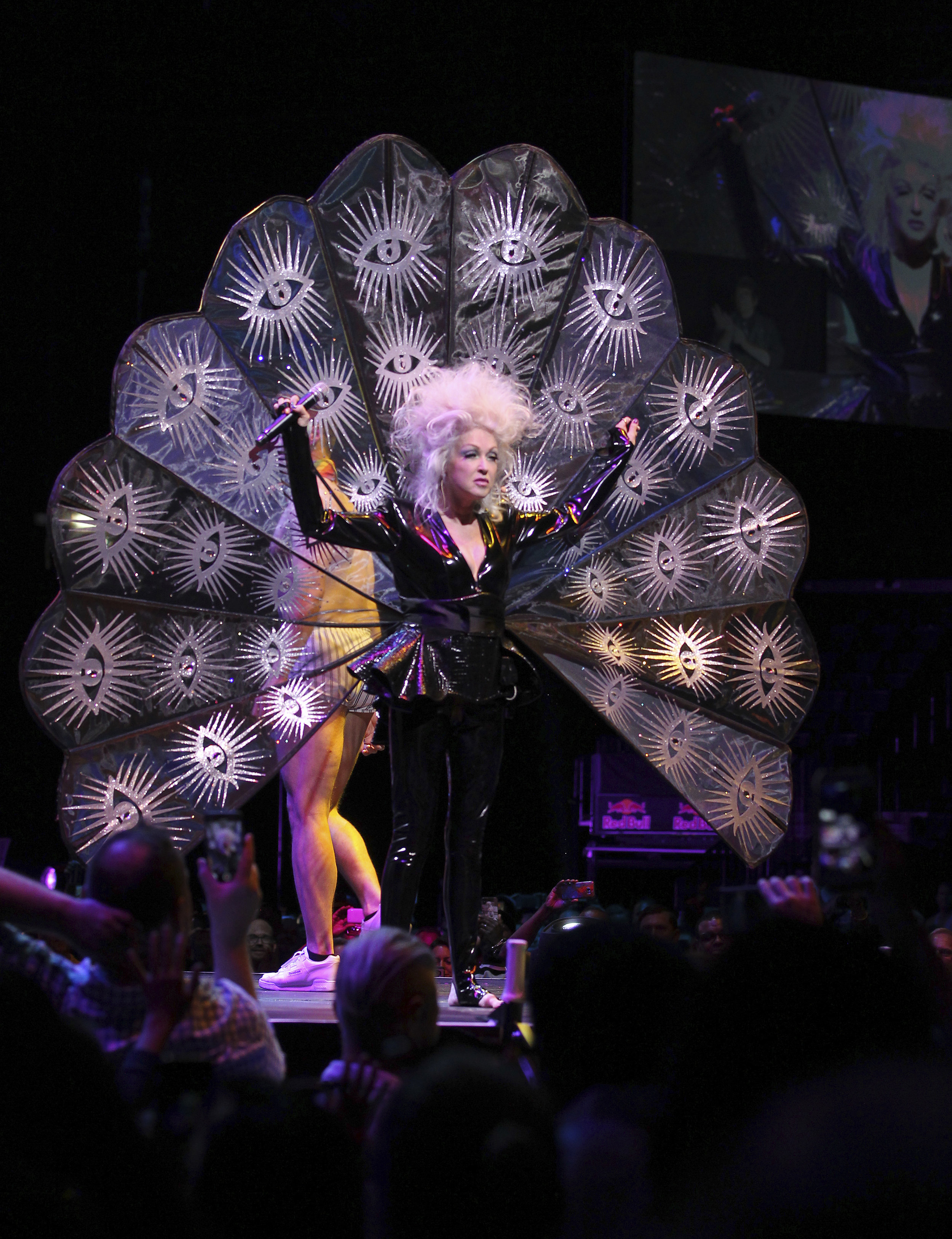Cyndi Lauper performing at WorldPride NYC 2019 in Brooklyn. Photo by Donald Traill/Invision/AP.