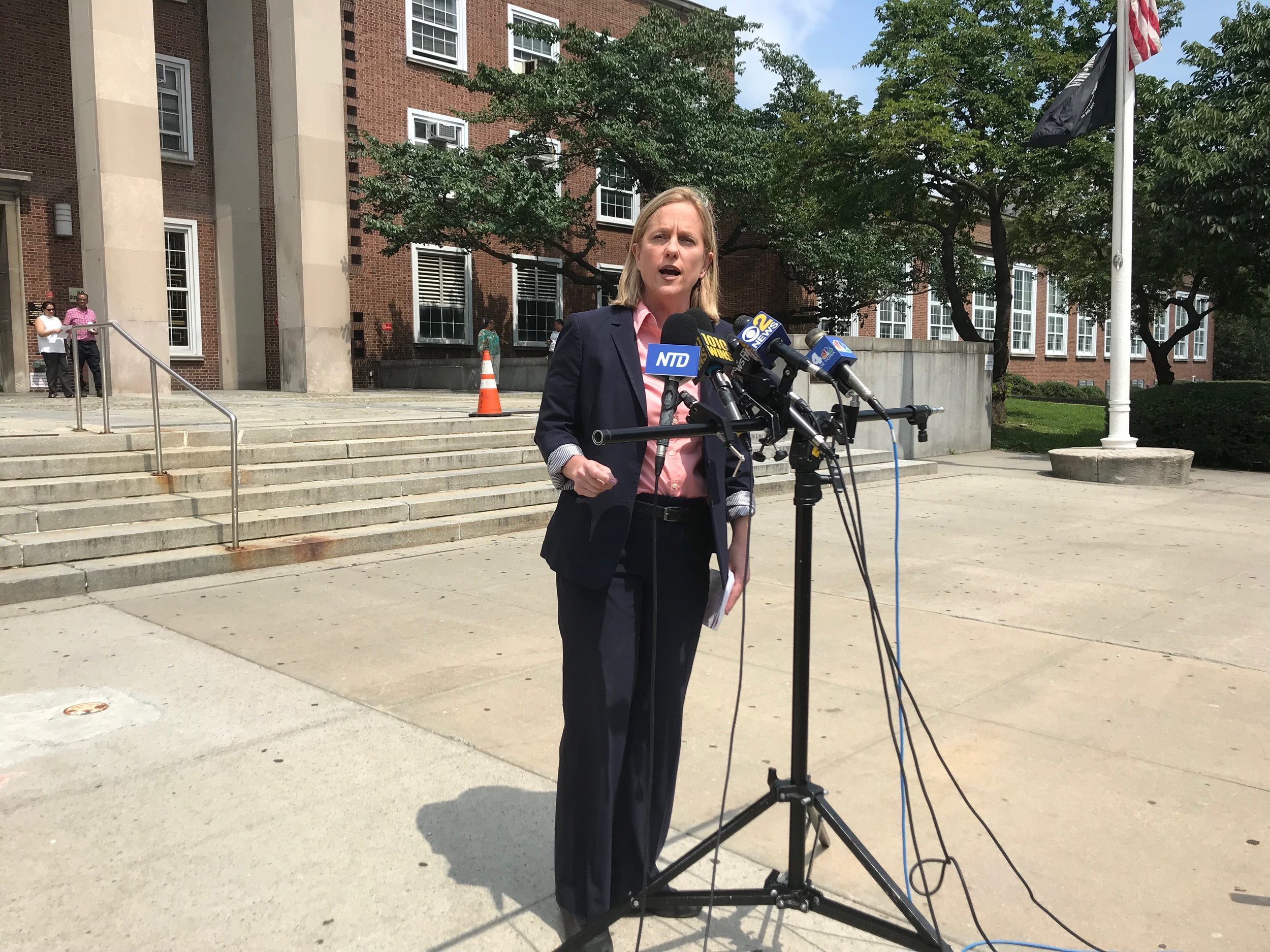 "Katz promised ""fairness and equity"" in Queens' criminal justice system, but doubled down on her commitment to prosecuting those who commit hate crimes and gun crimes in the borough."