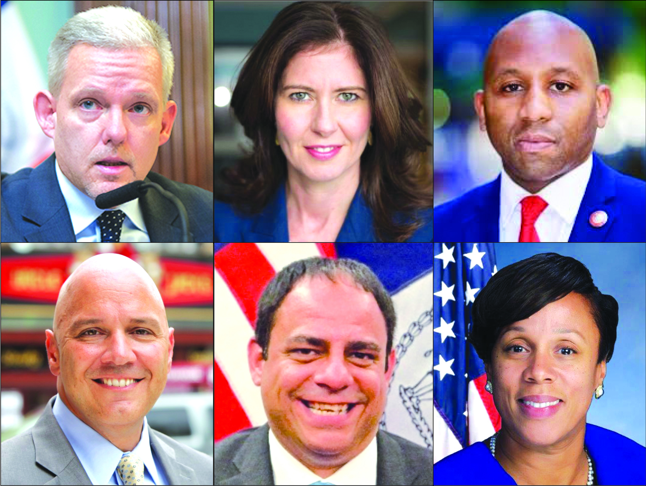 Councilmember Jimmy Van Bramer and Assemblymember Alicia Hyndman have announced their candidacies for Queens Borough President. Former Councilmember Elizabeth Crowley; Councilmembers Donovan Richards, Paul Vallone and Costa Constantinides are also expected to enter the race. Photos via City Council and state Assembly.