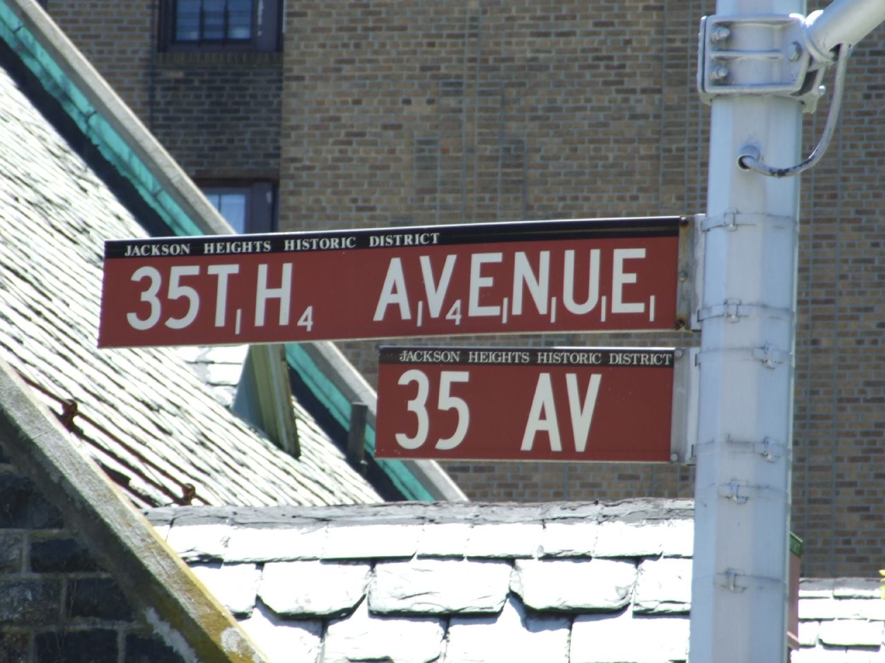 Find the Scrabble street sign on the corner of 35th Avenue and 81st Street. Photo by  Clark Gregor via Flickr .