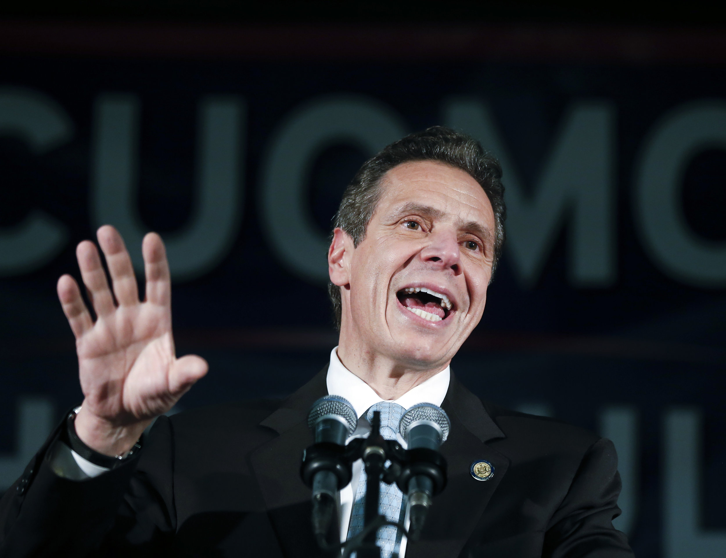 Gov. Andrew Cuomo signed a bill Friday that bars employers from discriminating against employees or job candidates because of their religious garb or facial hair. AP Photo/Mike Groll.