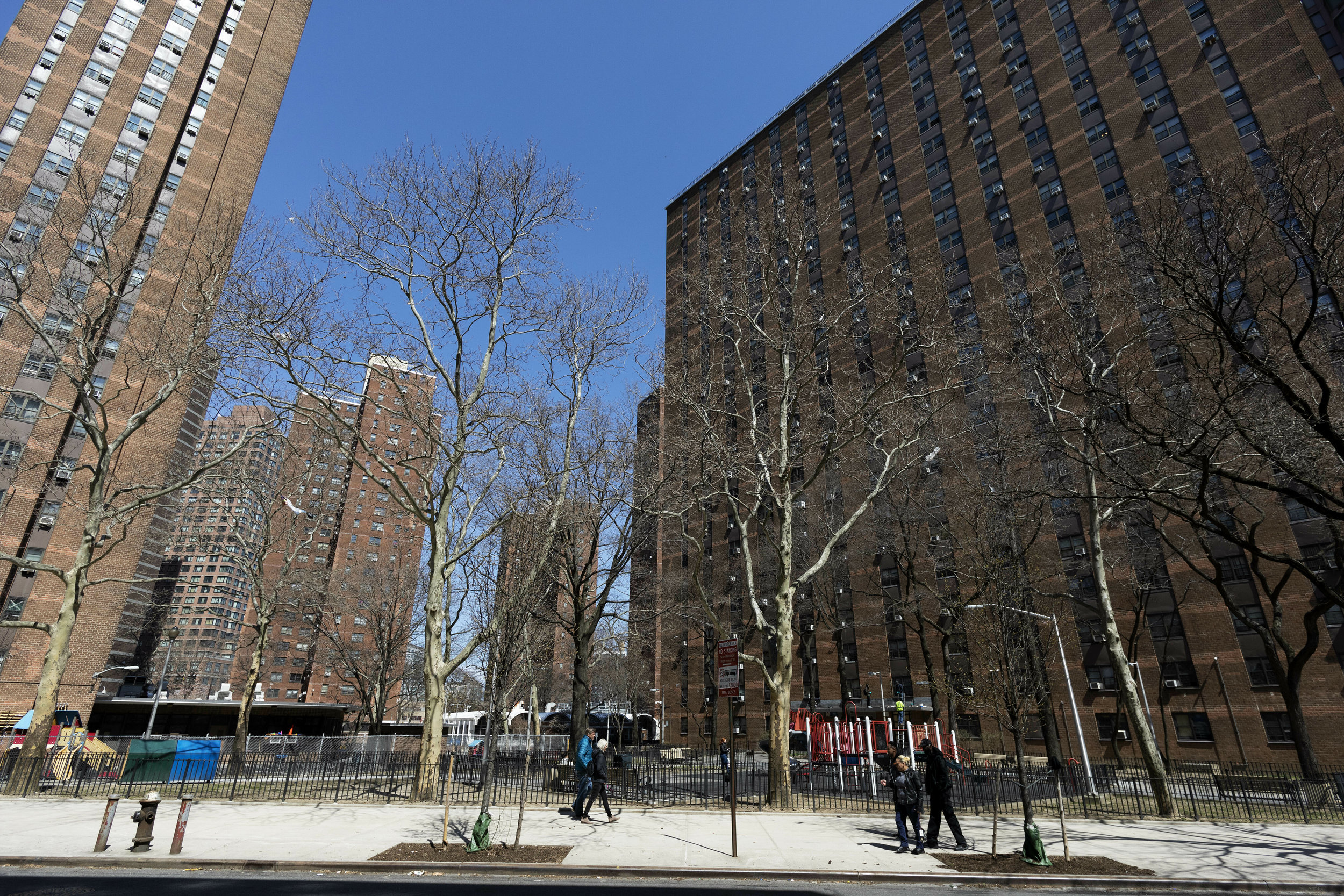 Residents of the John Haynes Holmes Towers in Manhattan went without heat at least one during last year's heat season. AP Photo/Mark Lennihan.