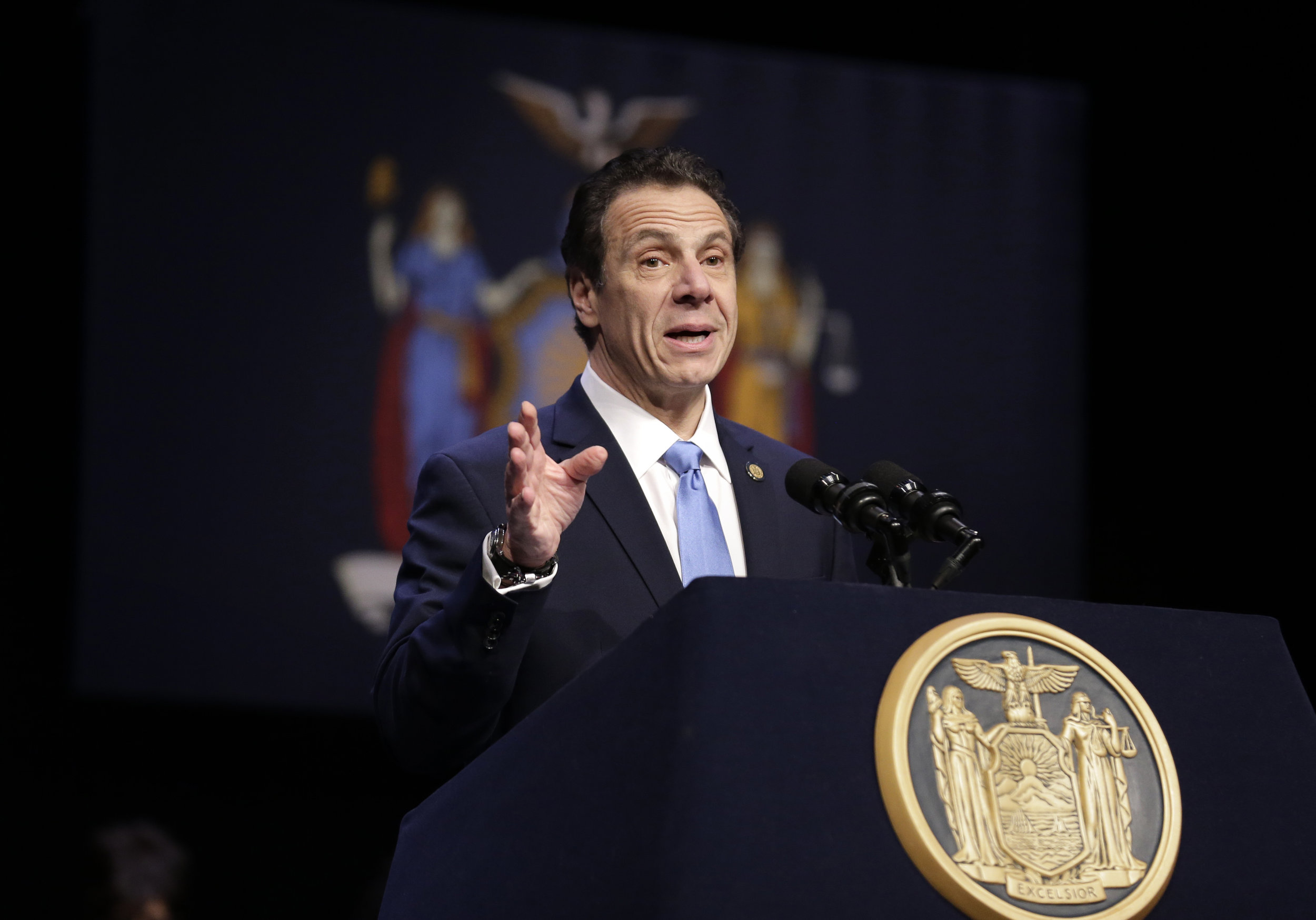 """Gov. Andrew Cuomo said lawmakers will """"continue to do everything in our power to protect our young people."""" AP Photo/Seth Wenig."""