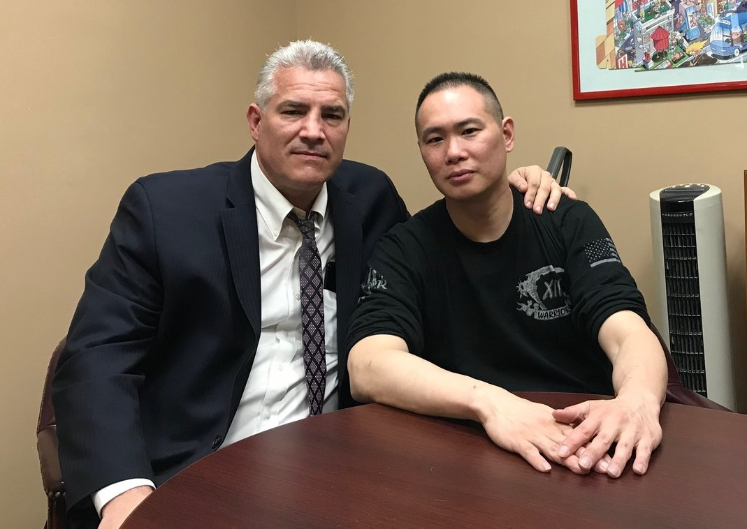 Attorney Joe Murray (left) is the Queens GOP's likely candidate for Queens District Attorney. He spoke with the  Eagle  about his client, NYPD Sergeant's Steven Lee's lawsuit against the NYPD.  Eagle  file photo by David Brand
