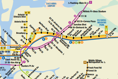Astoria Subway Map.How The Short Lived V Train Altered Queens Subway Lines Forever