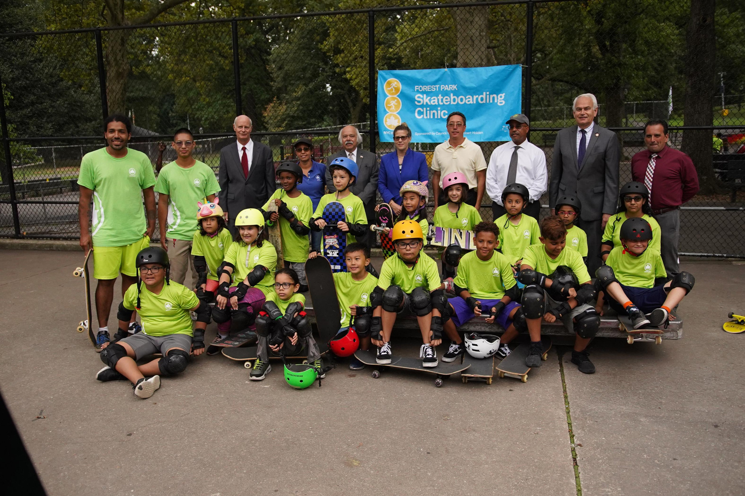 Department celebrated the new additions to the skate park on Aug. 13. Photo via Robert Holden's office