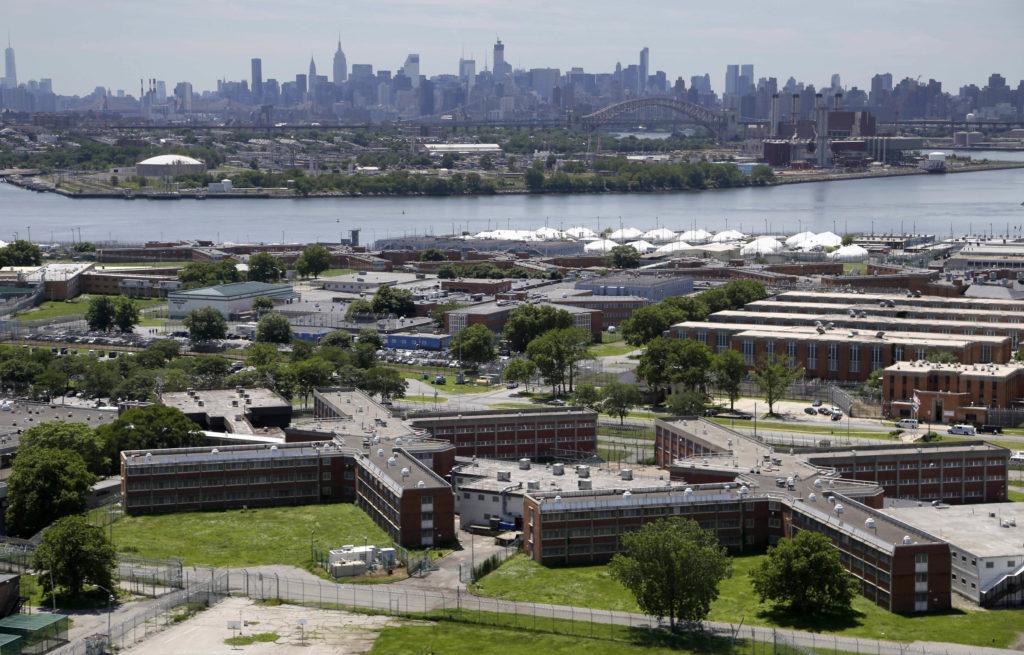 The Rikers Island jail complex. AP Photo/Seth Wenig, File.