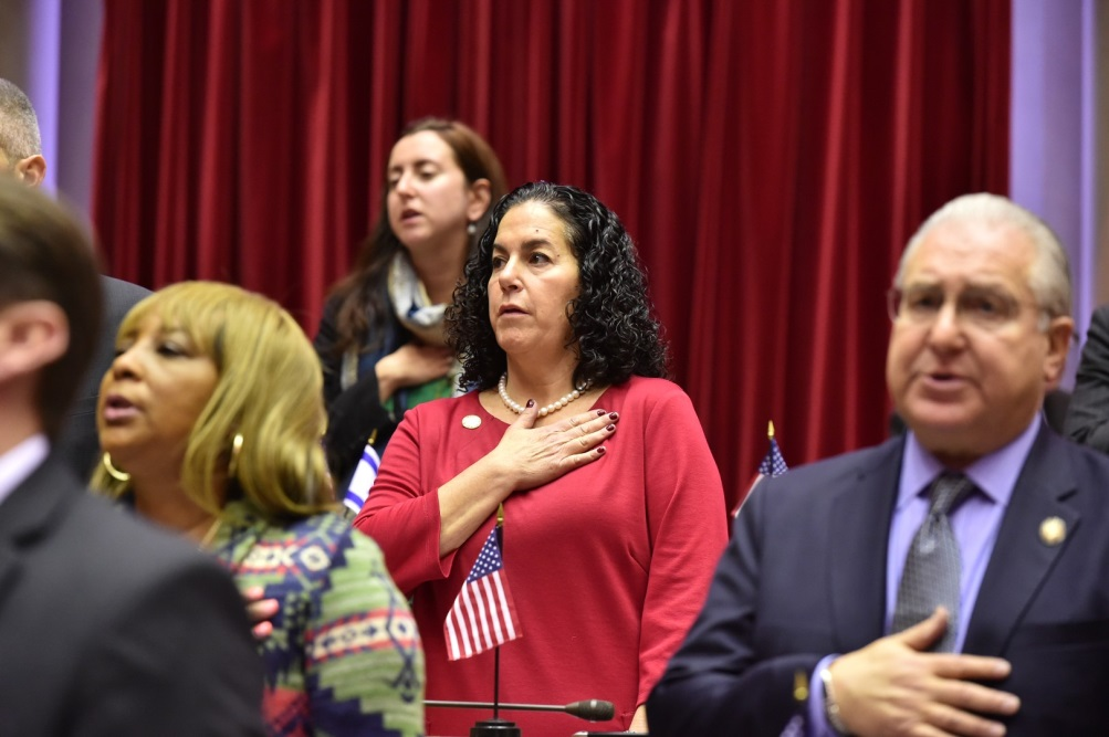 Local Assemblymember Stacey Pheffer Amato condemned the messages in her district. Photo via State Assembly.