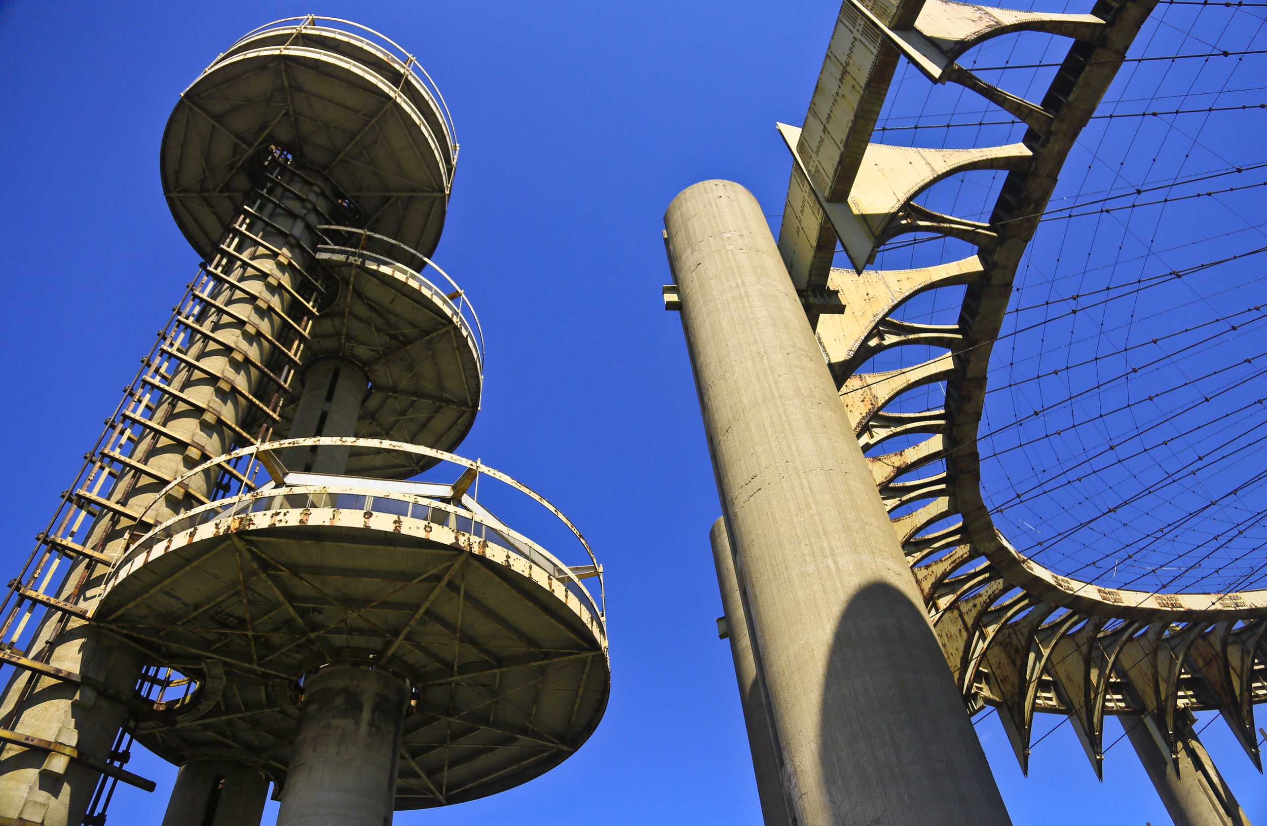 The 1964 World's Fair New York State Pavilion Observation Towers in 2014. AP Photo/Bebeto Matthews.