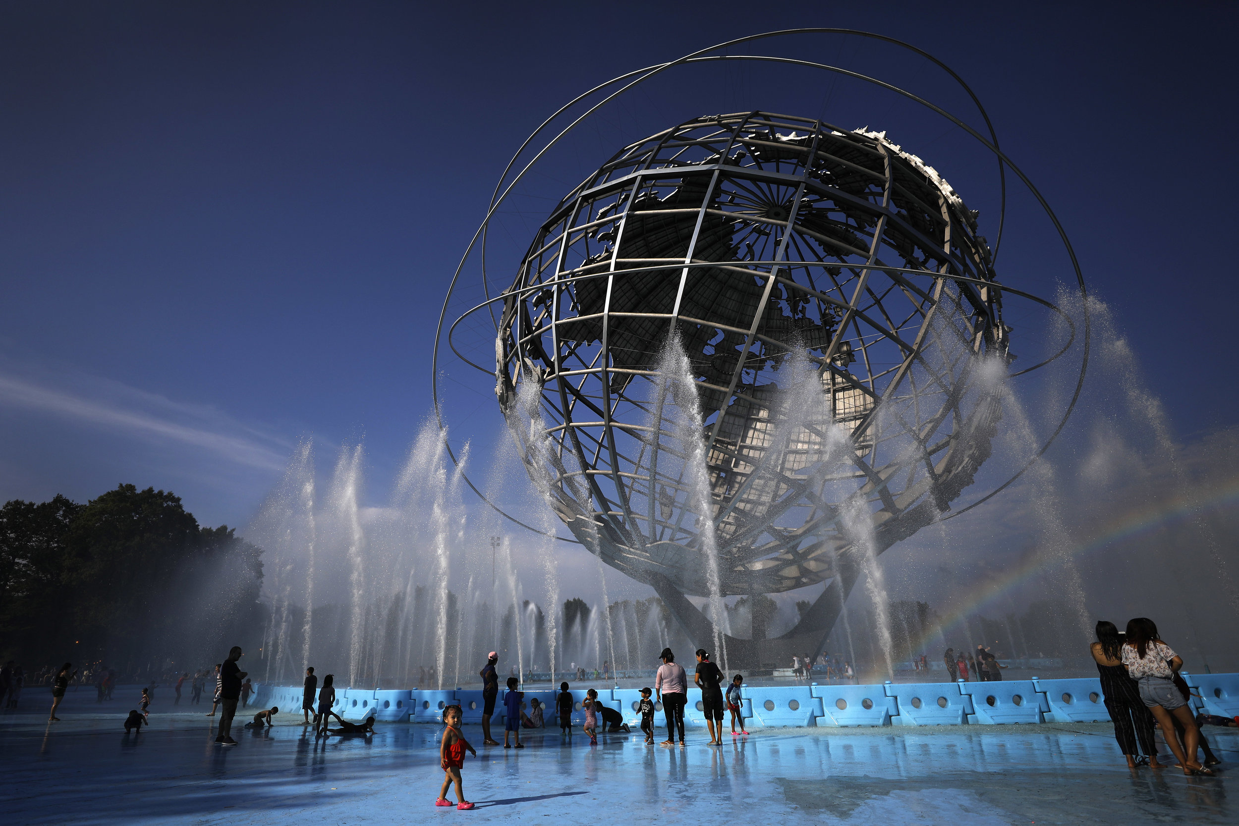 Take a spin under the Unisphere for a night. AP Photo/Adam Hunger.