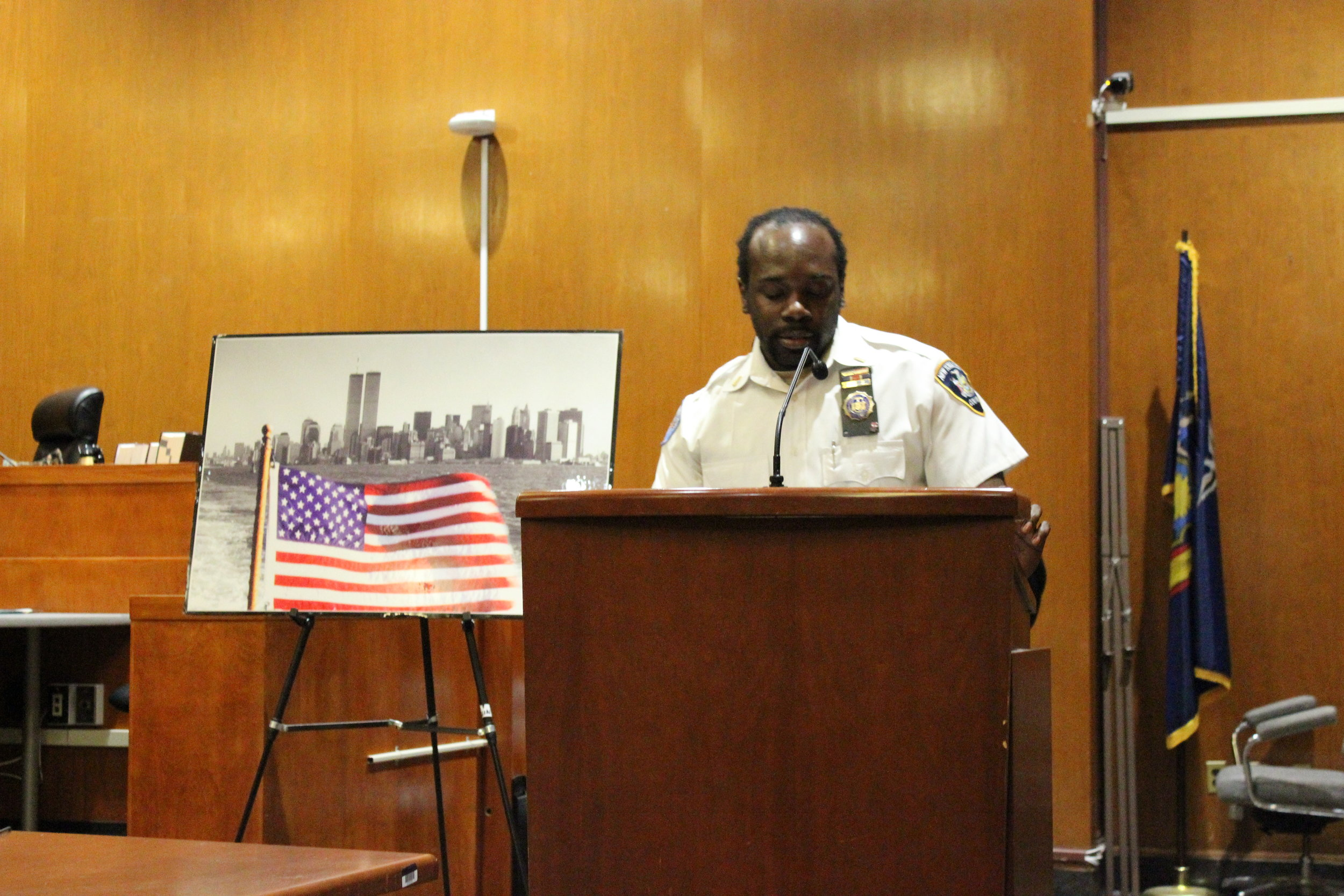 """""""I think everyone in this room knows where they were that day,"""" Lt. Tywon Bethea said of 9/11."""