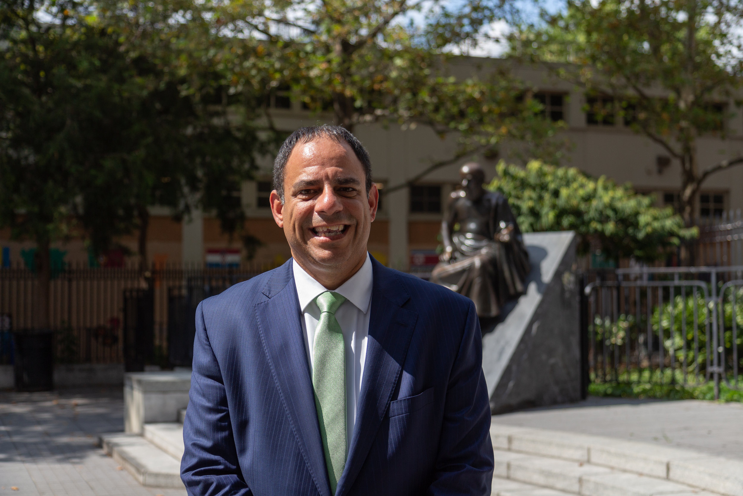 Councilmember Costa Constantinides is running for Queens borough president after spending several years focused on combating the climate crisis.  Eagle  photo by Jonathan Sperling.