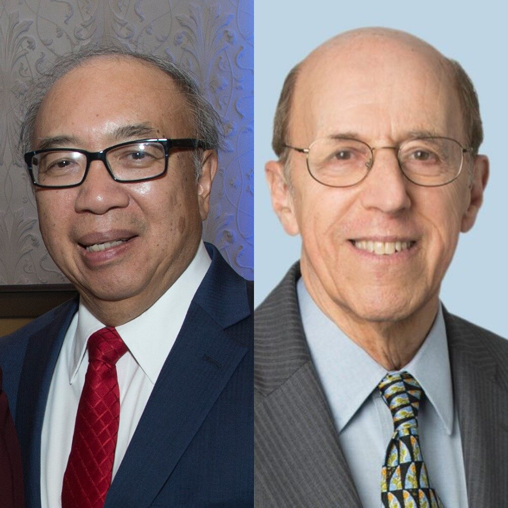 State law requires the governor, chief judge, senate president and assembly speaker to appoint members to a commission that evaluates judicial pay. So far, only Chief Judge Janet DiFiore has fulfilled her responsibility. DiFiore appointed attorney Michael A. Cardozo (left) and retired Justice Randall Eng (right) to the commission in August. Photo via Proskauer Rose; Eagle file photo by Andy Katz.