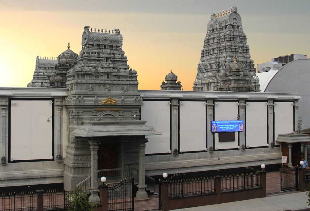 This Flushing temple was the first of its kind in North America. Photo by Hindu Temple Society of North America