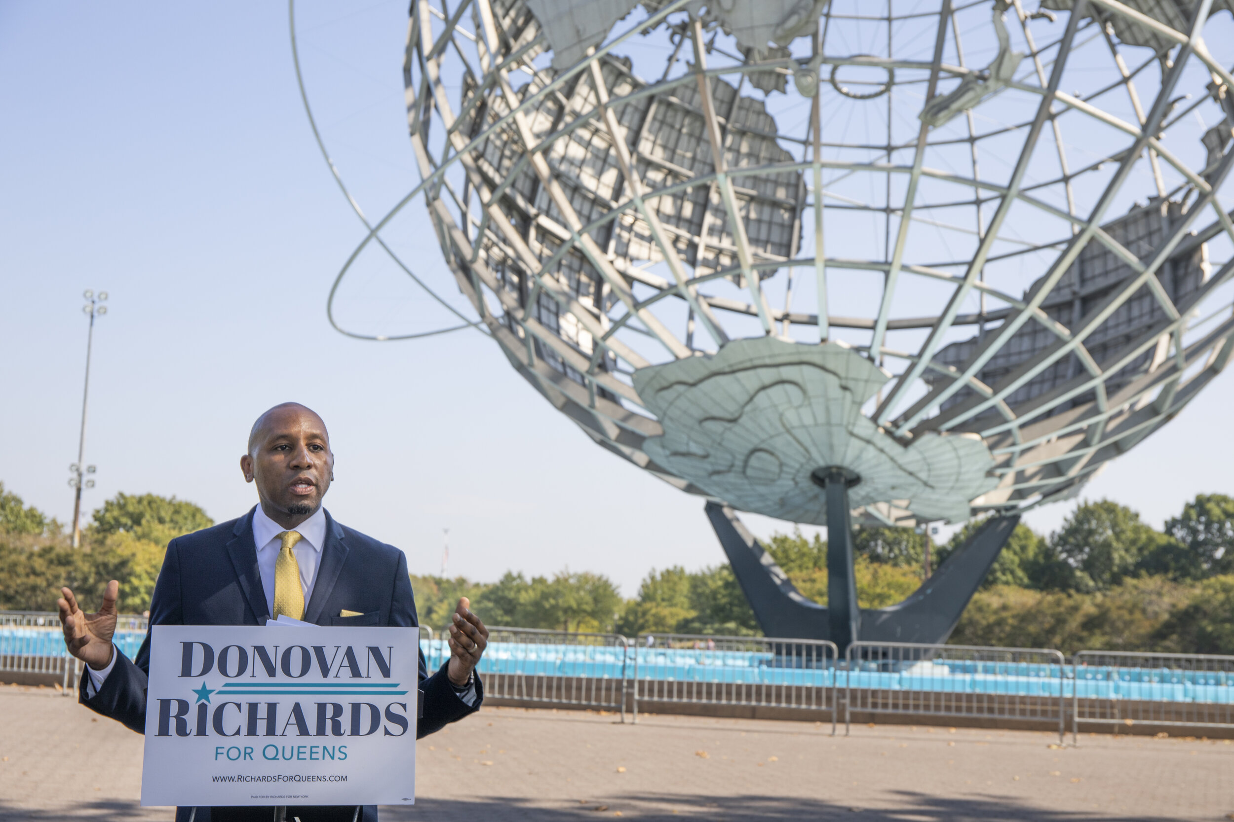 Councilmember Donovan Richards officially announced his candidacy for Queens borough president. Photo courtesy of Richards' campaign
