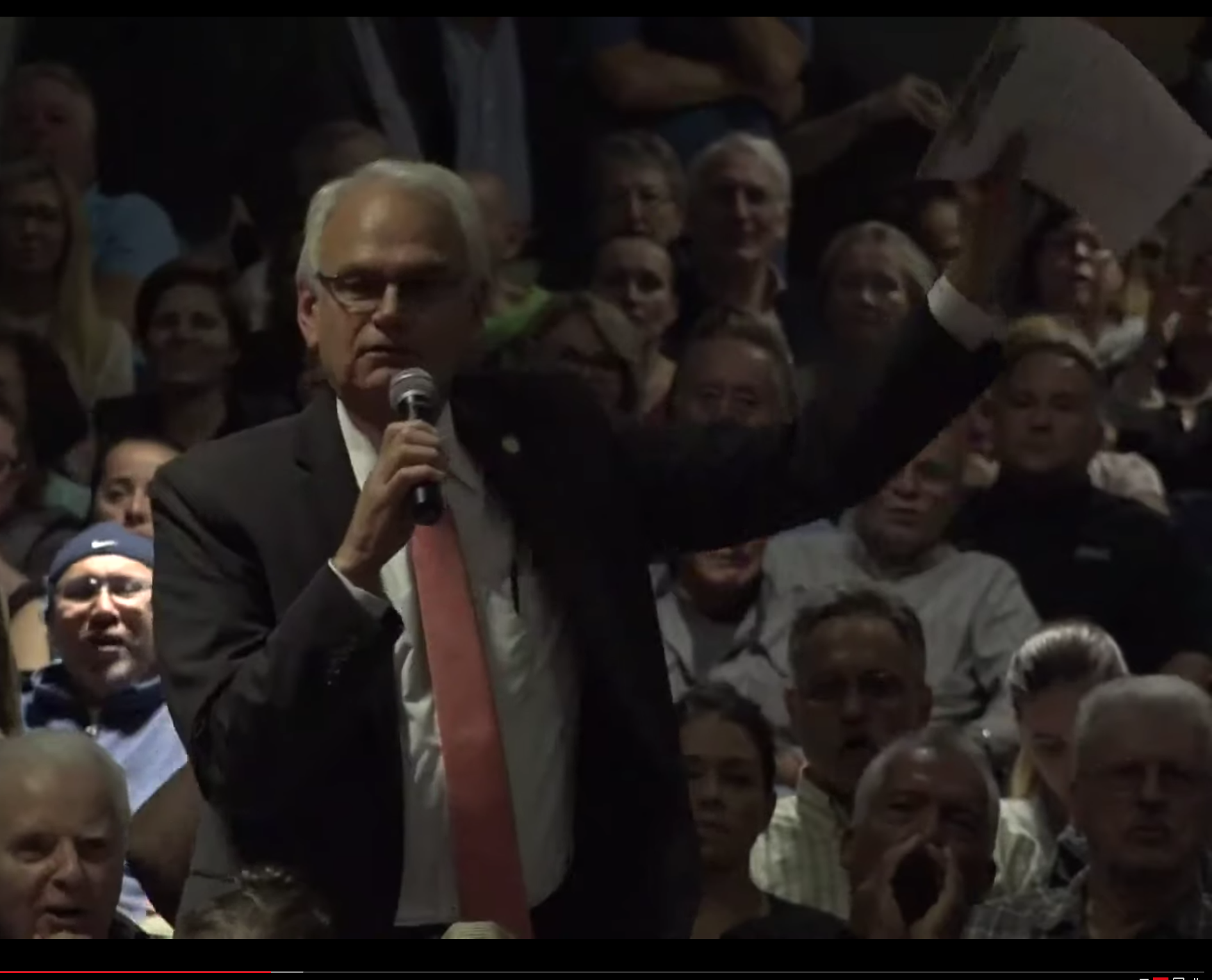 Councilmember Robert Holden stoked anger among constituents while criticizing a proposed men's homeless shelter in Glendale. Photo via CB5 livestream/YouTube