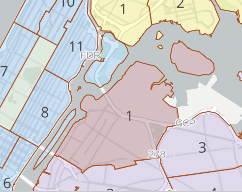 Rikers Island is considered part of the Bronx, but is located within in the jurisdiction of Queens Community Board 1. The proposed map change would trigger an advisory vote by CB1 and the Queens Borough President. Image via NYC.gov.