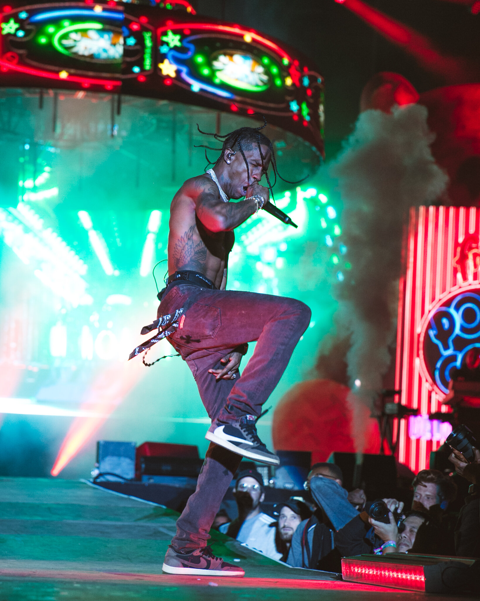 Travis Scott delivered the climatic Saturday night performance for Rolling Loud's inaugural New York festival. Rolling Loud/Nicolita Bradley.