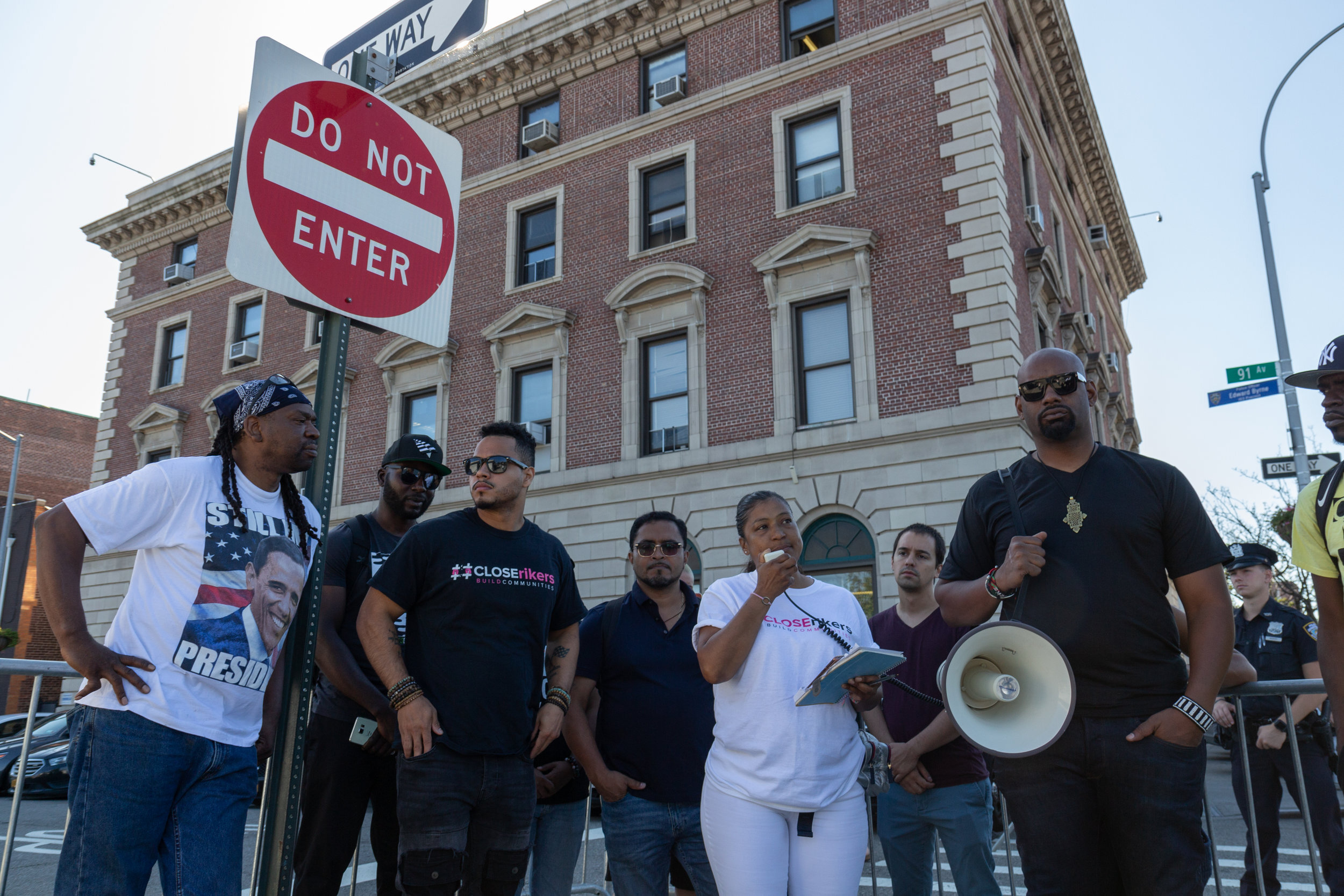 Advocates had previously rallied outside the 103rd Precinct, whose NYPD officers responded to the EDP call and arrested Herrera in August.  Eagle  file photo by Jonathan Sperling