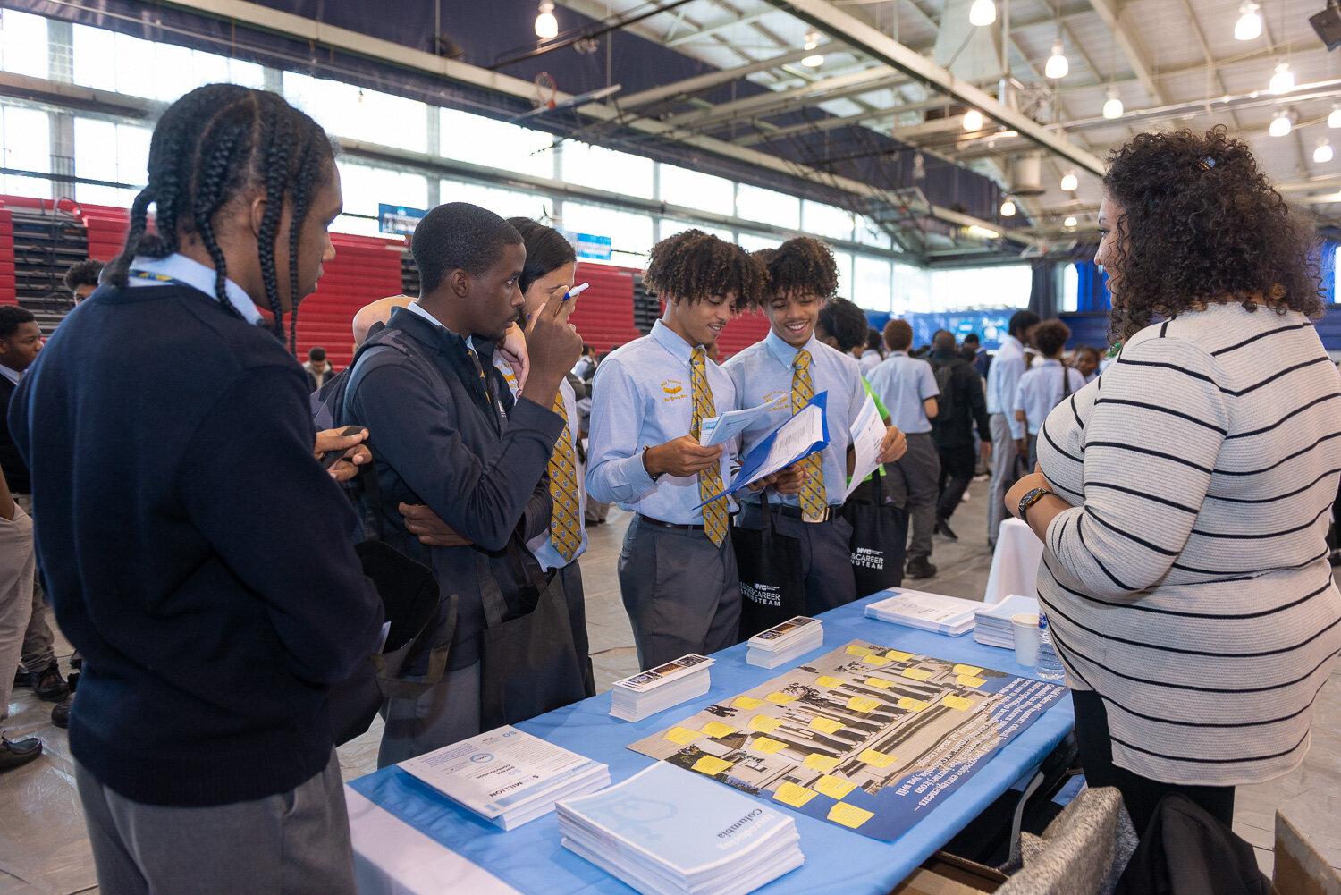 Hundreds of high school students attended a College and Career Fair at Queens College on Friday. Photos by Andy Poon/Queens College.