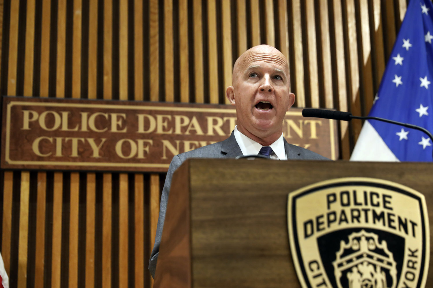 Commissioner James O'Neill announced he was stepping down at New York City's top cop Monday. AP photo by Richard Drew, file.