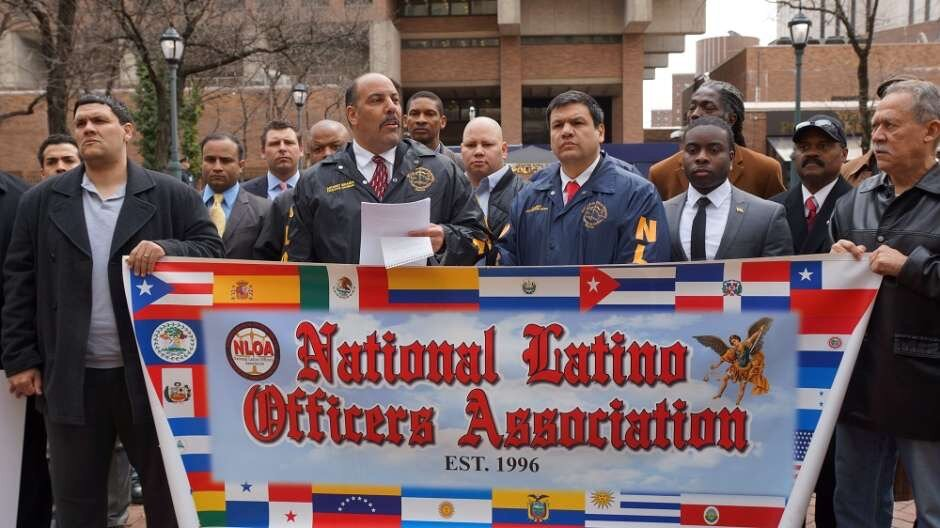 Chairman of the National Latino Officers Association Anthony Miranda, second from left. Photo courtesy of Miranda.