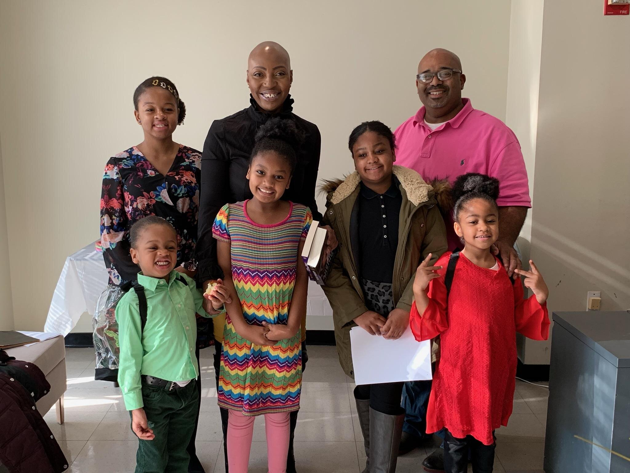 Yolanda Ferguson and her husband finalized the adoption of five children: Divinity, Darling, Daniel, Jeremiah and David Angela. Photo courtesy of ACS.