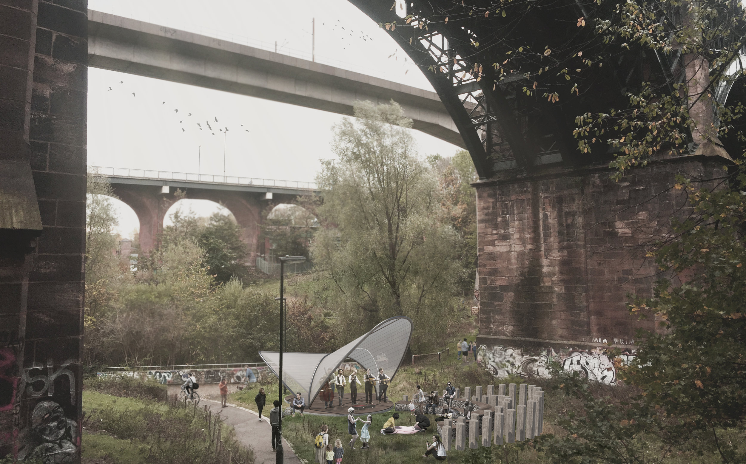 Ouseburn Bandstand - About Design ©