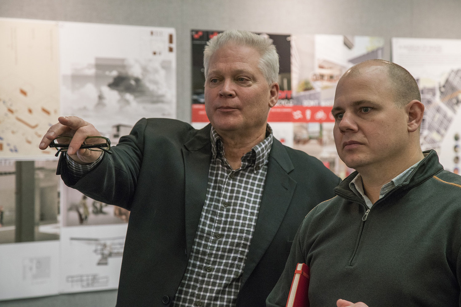 Andy Mangan, executive director, U.S. Business Council for Sustainable Development, and Ryan Jones, associate partner of Lake|Flato Architects were members of the design jury. ( Photo credit )