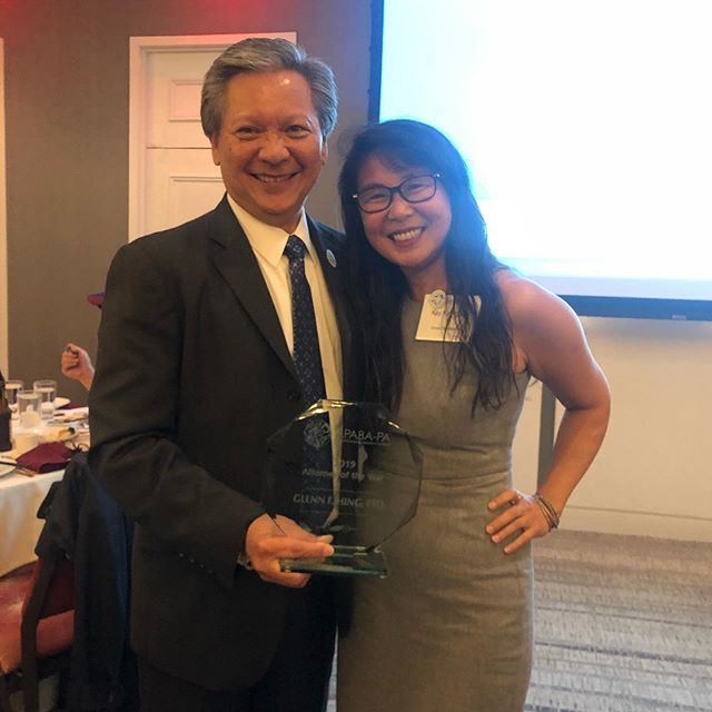 Congratulations to Glenn Hing, @apabaofpa Attorney of the Year!