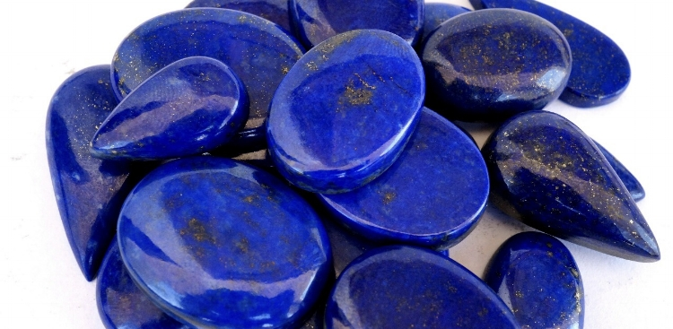 High grade Afghan lapis cabachons, for jewelry.