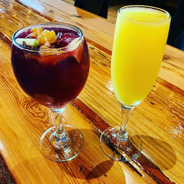 Bottomless Mimosa or Bottomless Sangria...which are you choosing?!?