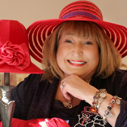 Betty Carpenter - Betty knows Southern. Her latest life reinvention includes writing about southern-grown life, love, and laughter made to share. Between her Red Hat Society chapter (Dolly's Dolls) her job, her church, her family, and her new career as an author, Betty leads a fast-paced and fulfilling life as a Southern whirlwind that keeps all her guardian angels on their toes and the Lord shaking His head.See Betty's book here. To visit her website, click here or on her photo.