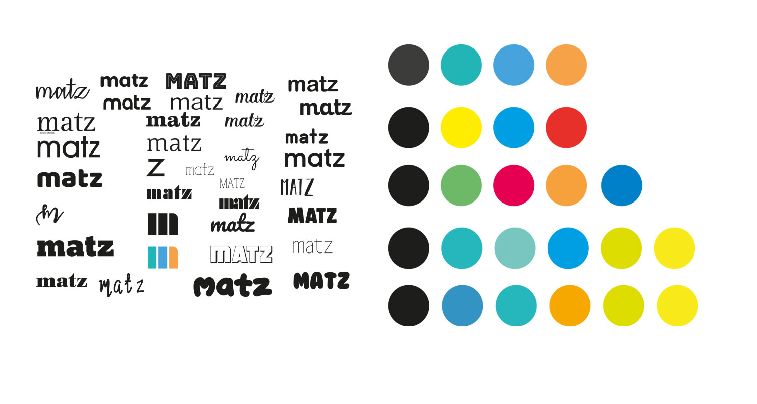 Initial thoughts on fonts and colours for Matz