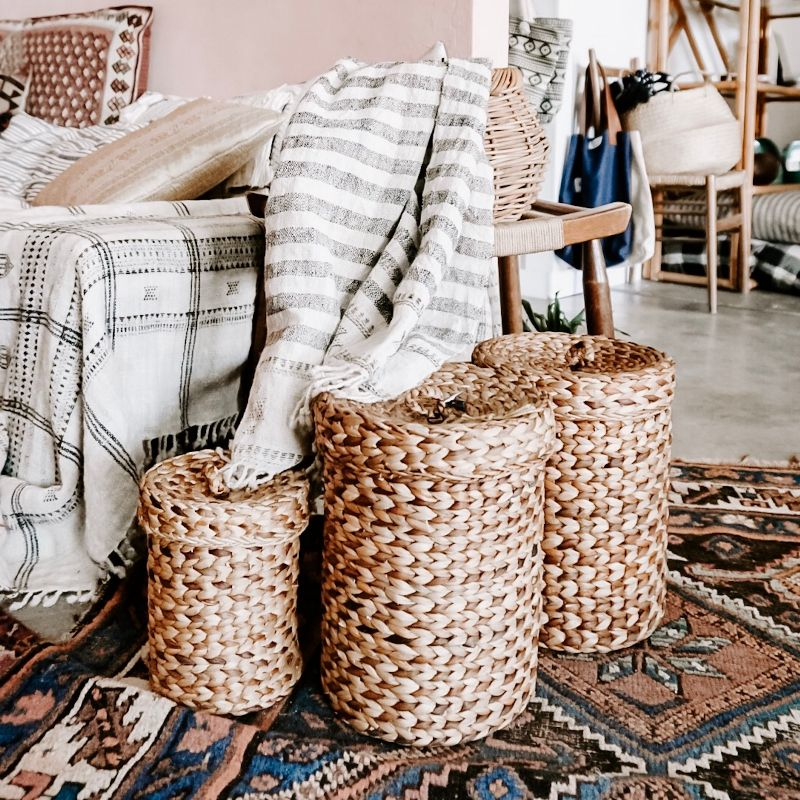 Baskets, Kilms Rug, natural