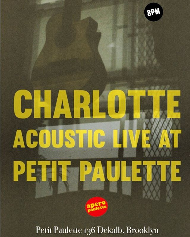 Live music with Charlotte this coming Sunday April 28 at 8pm 🎸🍷🧑 #naturalwine  #fortgreene