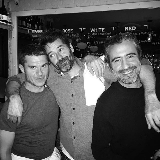 la fine équipe! What a fun night 👏🏼 @davidvincentloyola @auxdeuxamis @👏🏼mathieu @barbrutalbarcelona You guys are the best