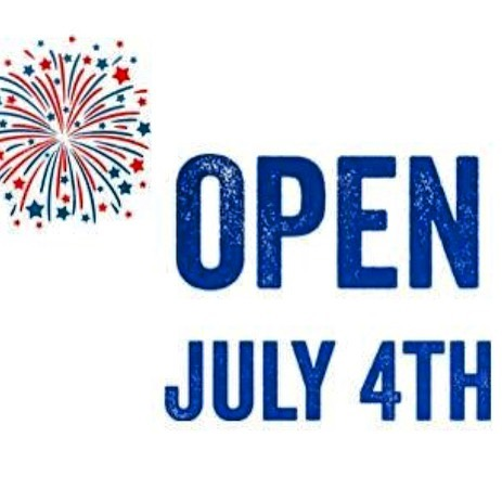 Yes we are open and happy to serve breakfast, lunch and dinner from 7 am to 1 am ! Happy 4th of July 🇺🇸