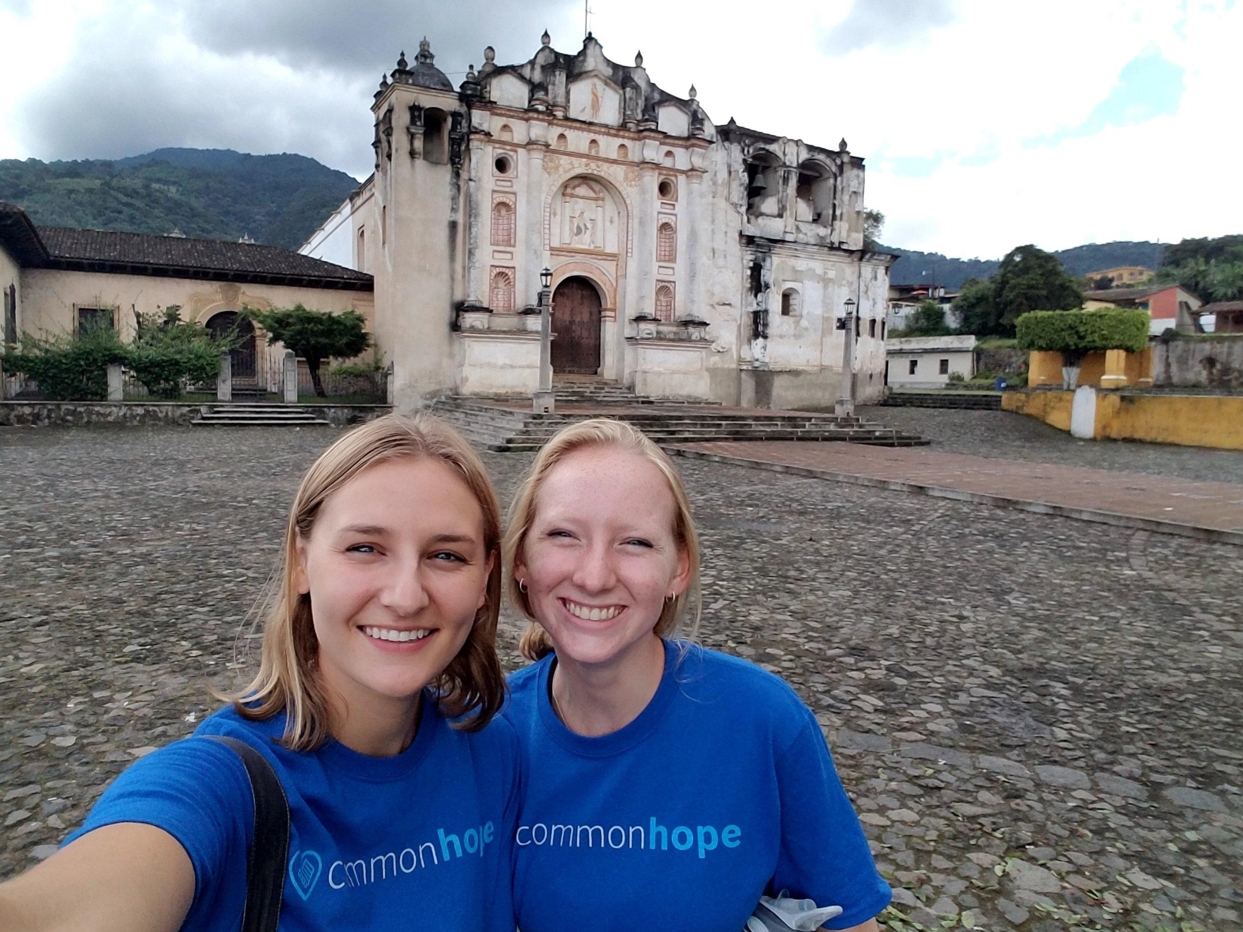 Team members exploring the local sights of Antigua, Guatemala.