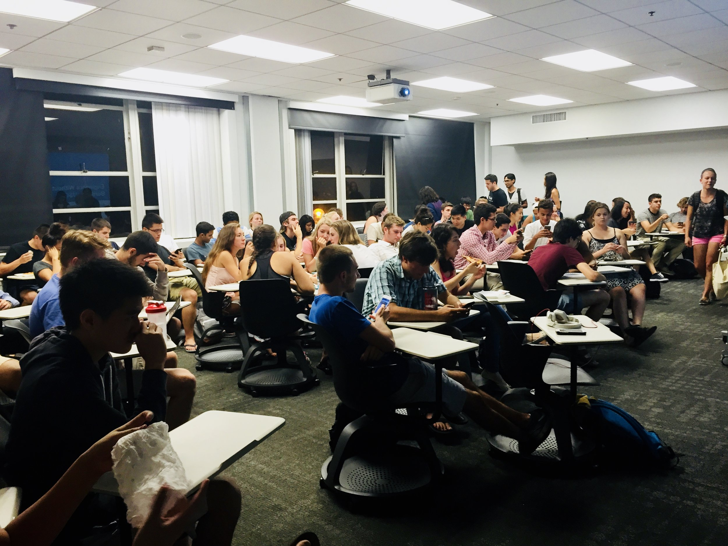 A club general meeting on campus.
