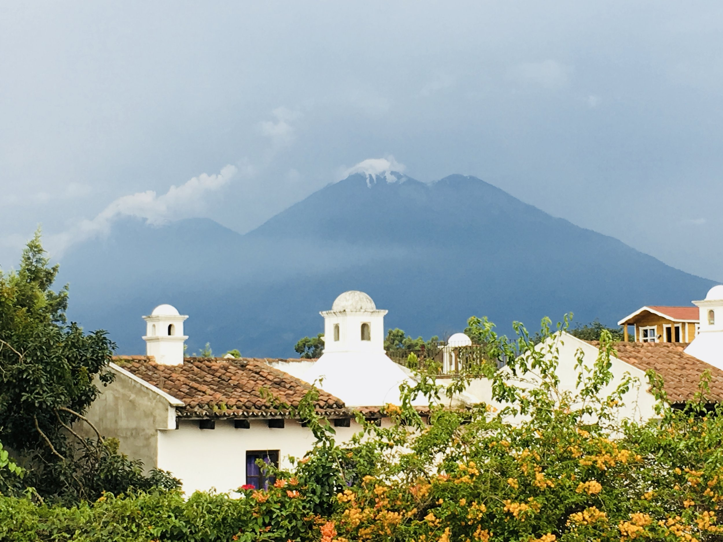 The view from the beautiful Common Hope campus in Antigua, Guatemala.