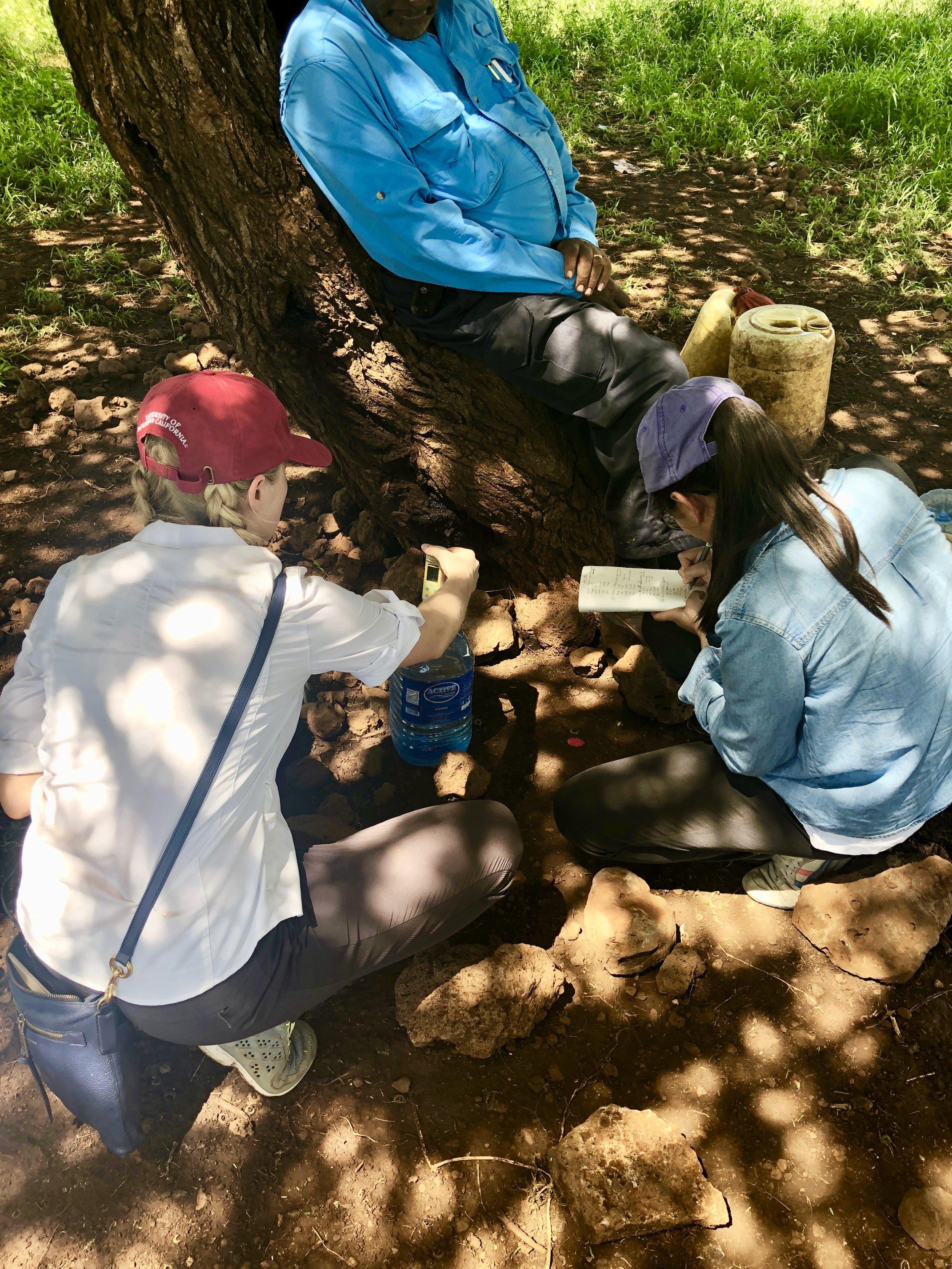 Taking water samples in Gambella, Kenya during the May 2018 assessment trip.
