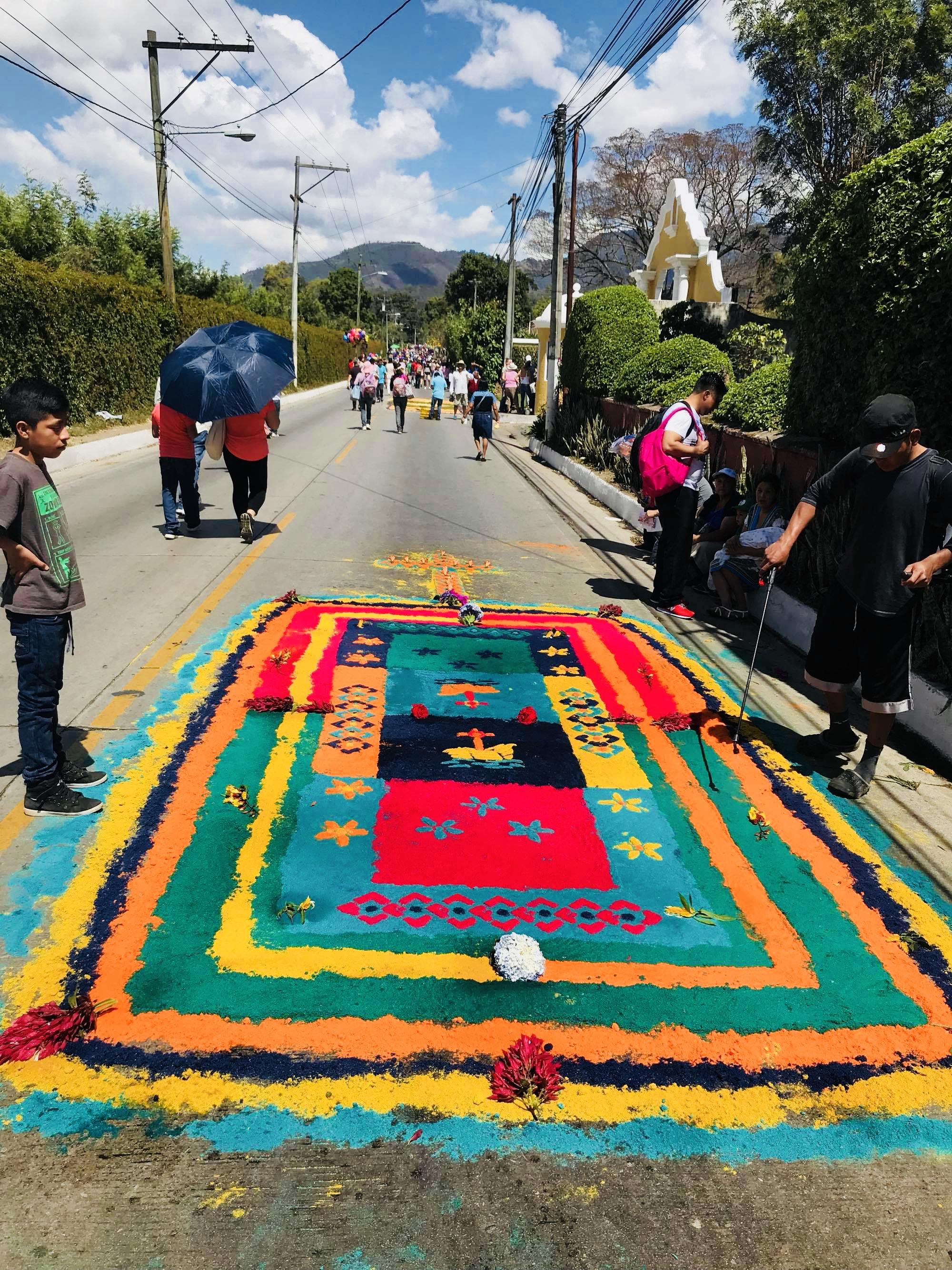 Enjoying the local traditions in Antigua, Guatemala.