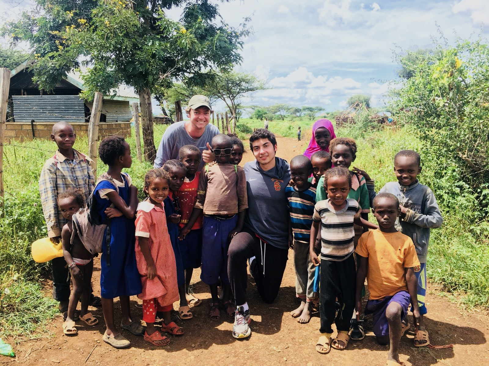 Spending time with school children in the Gambella village during the May 2018 assessment trip.