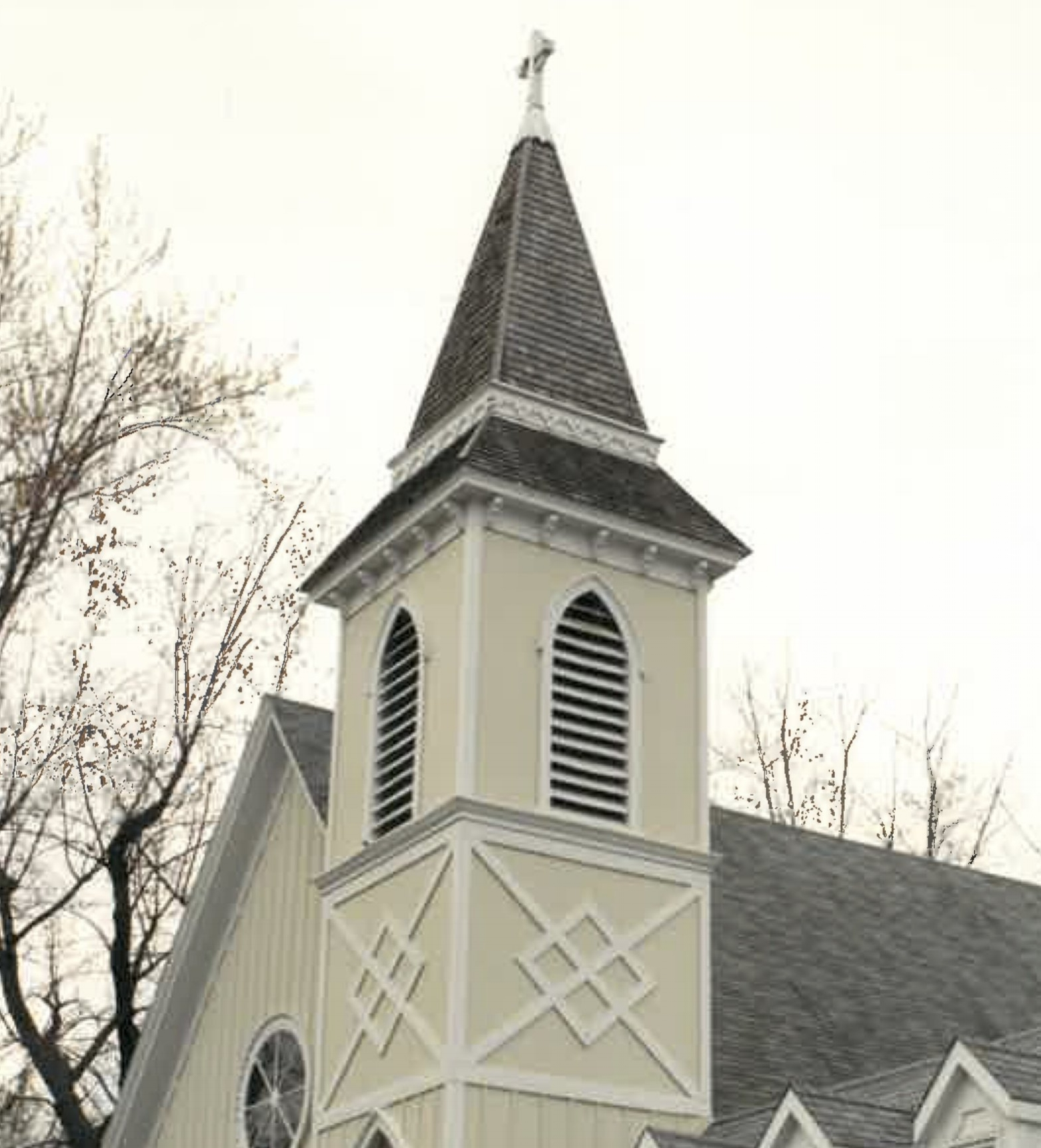 Grace's Bell Tower, donated by Caleb & Alice Jones  (Photographed here in 1980).